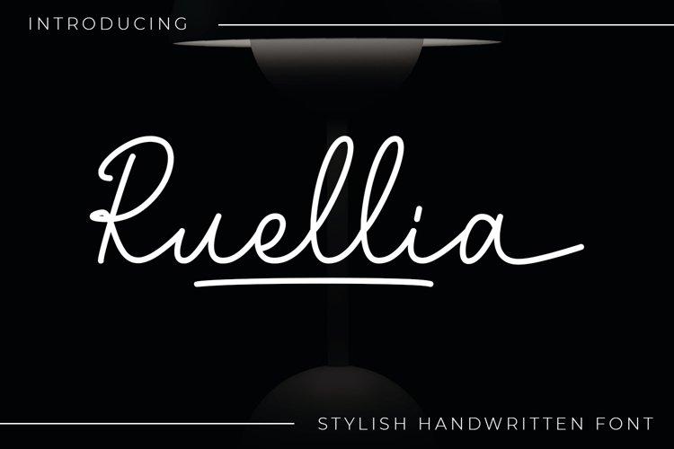 Ruellia - Signature Font example image 1