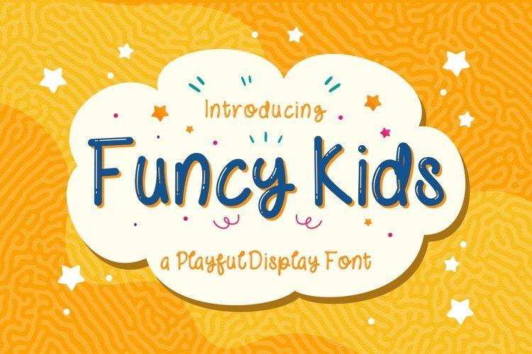 Funcy Kids! - Playful Display Font example image 1