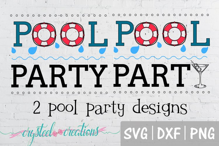 Pool Party bundle SVG, DXF, PNG, Fishing