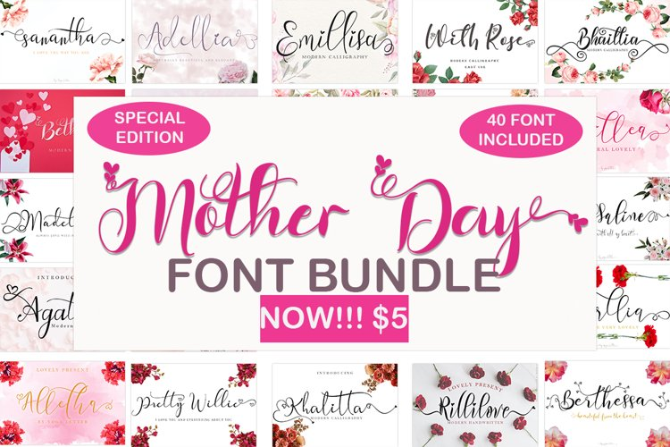 Mother Day font Bundle example image 1