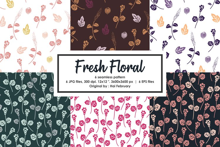 Summer Fresh Floral Seamless Pattern example image 1
