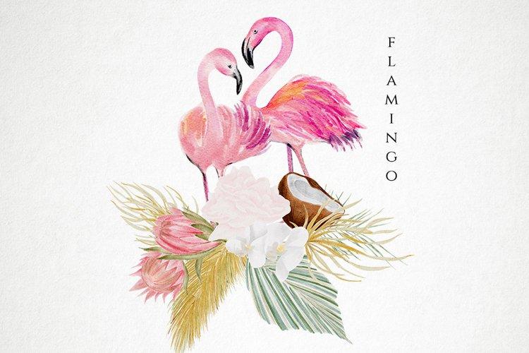 Flamingo Watercolor Clipart, Sublimation png