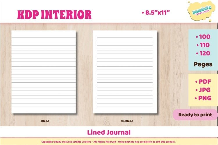 KDP interior Lined Journal example image 1