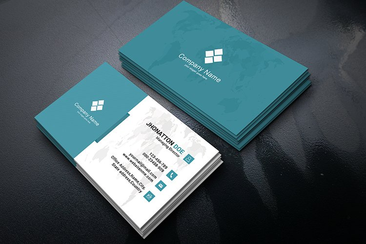 Clean Business Card - Layered Photoshop PSD File