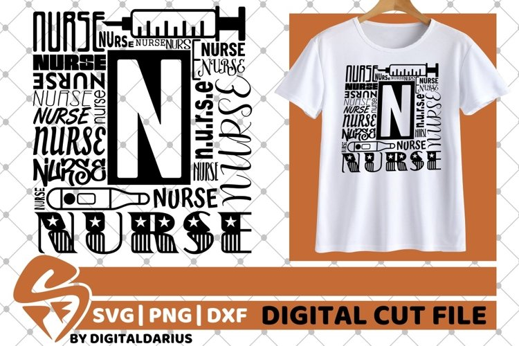 Nurse Words svg, Stethoscope svg, Hero svg, Black Woman svg example image 1