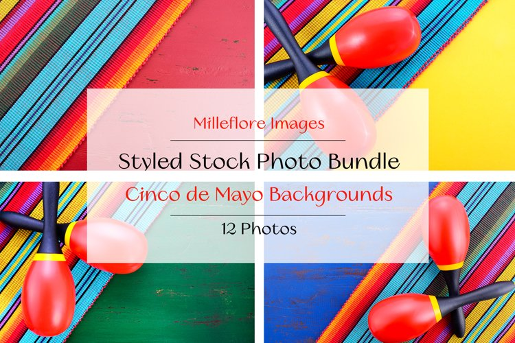 Cinco De Mayo Backgrounds Maracas Mockup Styled Photo Bundle