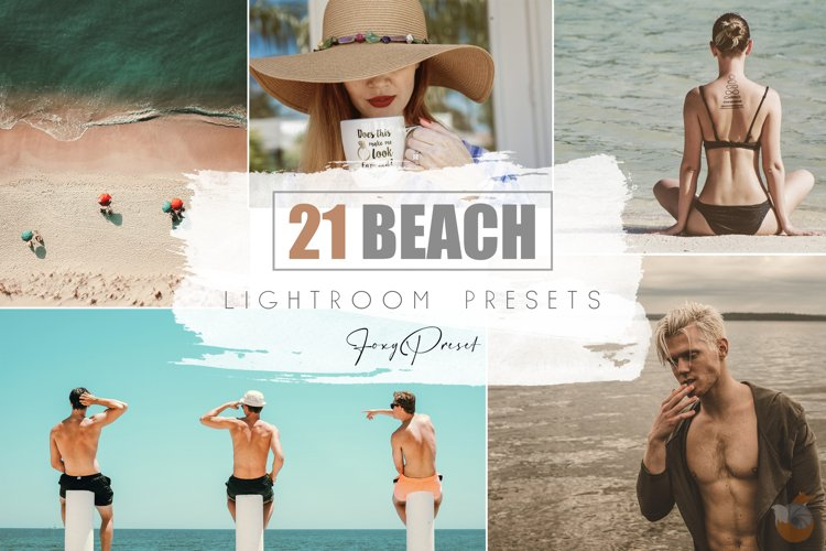 21 Beach Mobile & Desktop Lightroom Presets example image 1