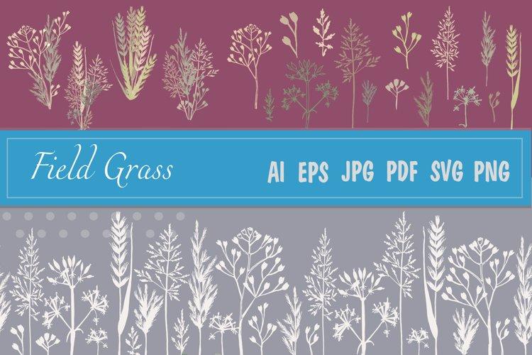Field grass set