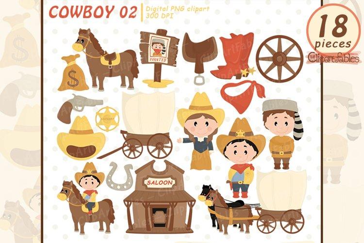 COWBOY clipart, Western clip art, cute sheriff art - INSTANT
