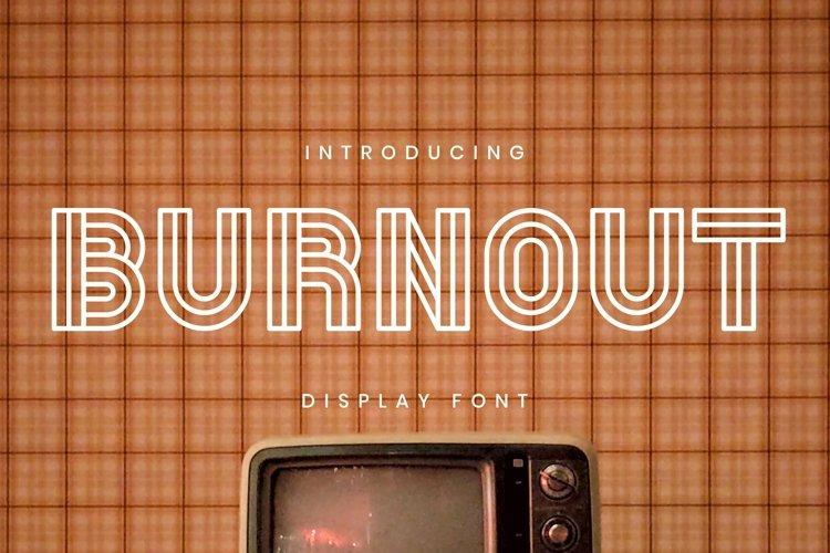 Web Font BURNOUT Font example image 1