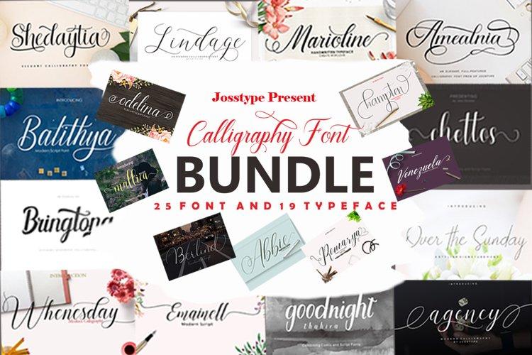 Calligraphy Font Bundle