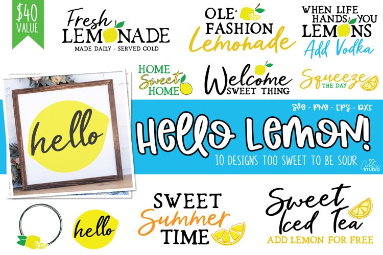 Hello Lemon - Lemon Design Bundle