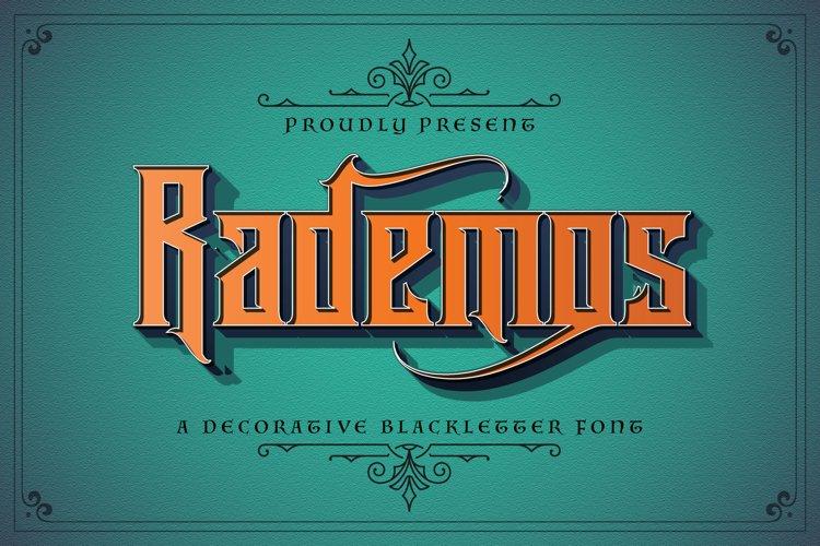 Rademos - Blackletter Font example image 1