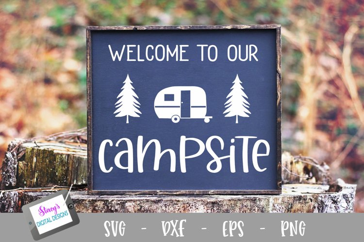 Camping SVG - Welcome to our campsite SVG