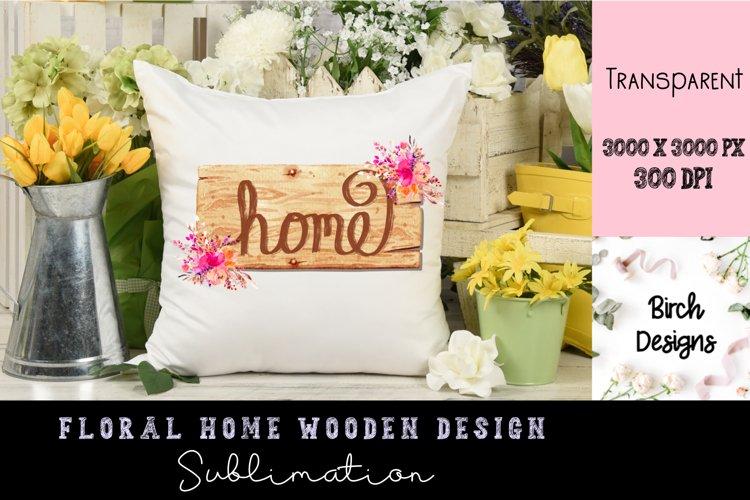 Home Wooden Sign Sublimation PNG Design