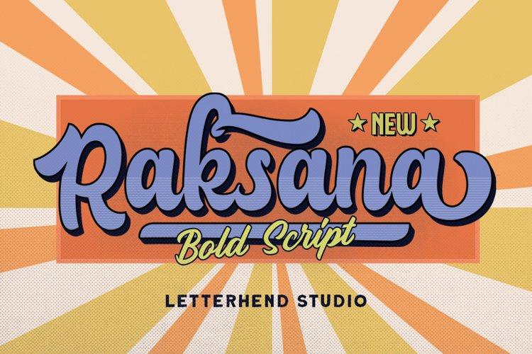 Raksana - Retro Bold Script example image 1