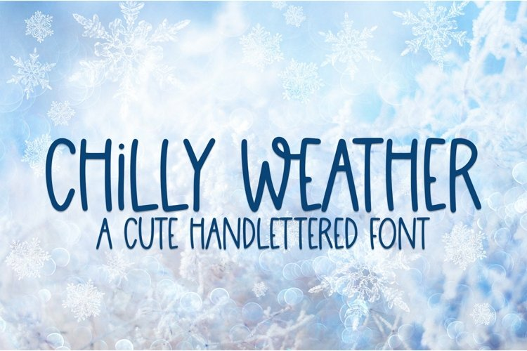 Web Font Chilli Weather - A Cute Hand-Lettered Font example image 1