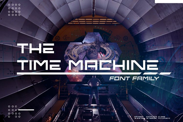 The Time Machine Font Family example image 1