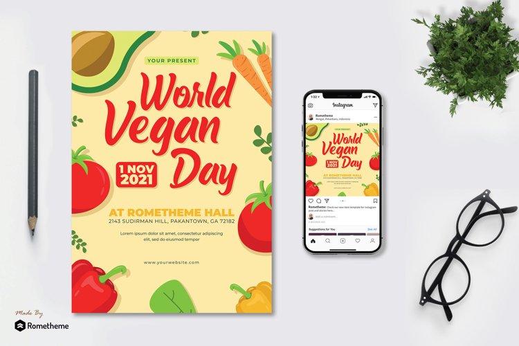 World Vegan Day - Flyer & Instagram Post KF example image 1