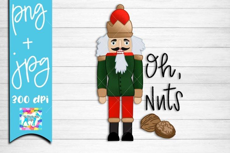Nutcracker funny Christmas illustration