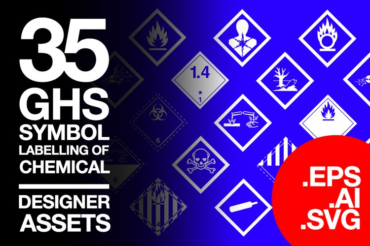 35 Symbol Chemicals Warning GHS SVG AI EPS example image 1