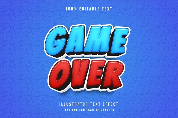 Game over - Text Effect. example image 1