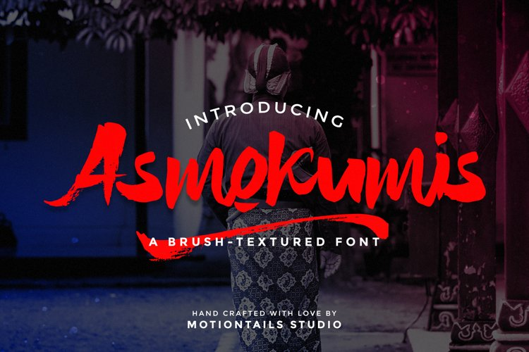 Asmokumis Textured Brush Font