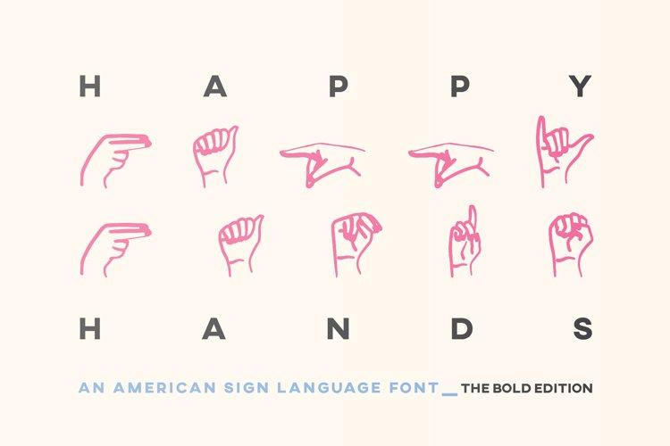 ASL Font American Sign Language Symbols Alphabet Numbers