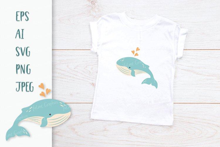 Cute baby whale / Baby animals SVG / Ocean animals