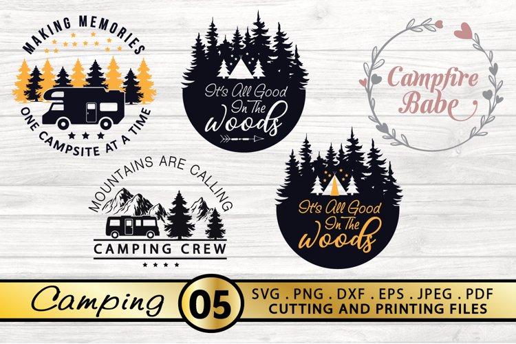 Camping SVG Bundle Camping SVG PNG DXF EPS Files Camp SVG example image 1