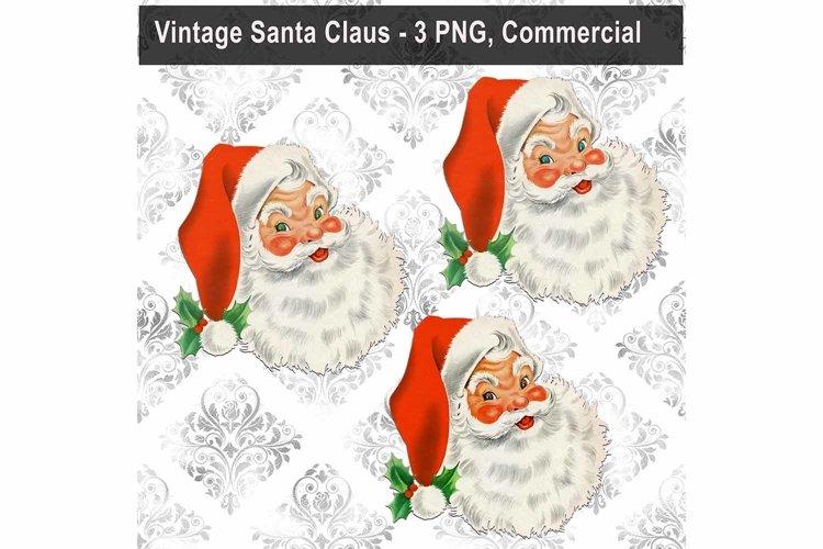 Vintage Santa Claus Bundle, Christmas, Sublimation PNG Art example image 1