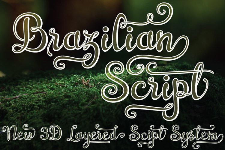 Brazilian Script (LAYERED FONT) - Free Font of The Week Font