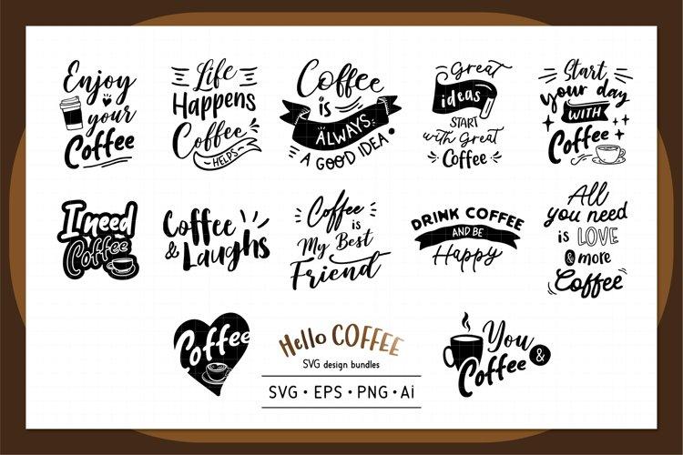 Hello Coffee SVG design bundles
