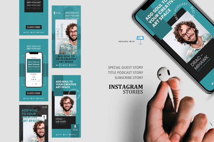 Young podcast talk ig stories and post keynote template