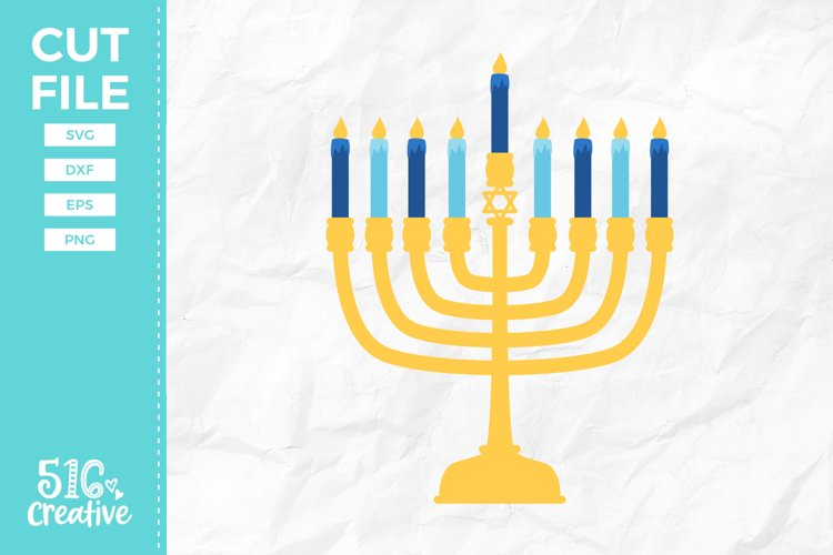 Menorah SVG DXF EPS PNG example image 1
