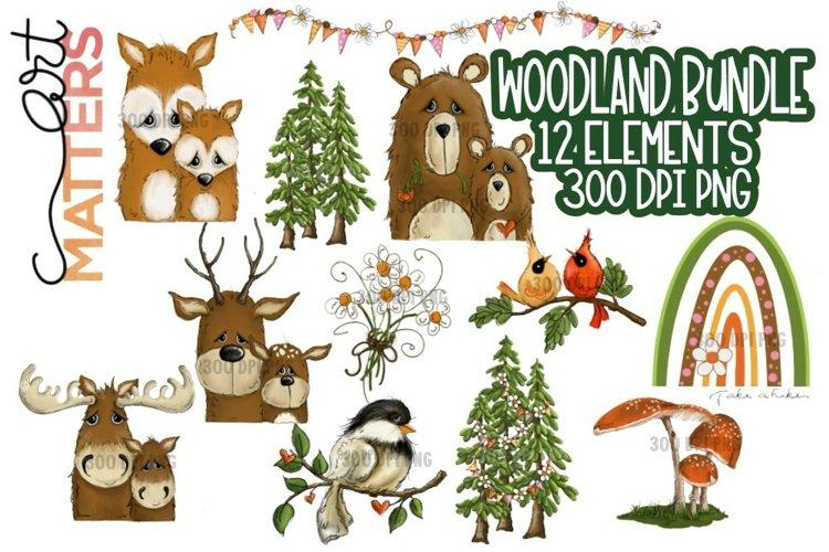 Woodland Bundle 12 elements - 300 DPI