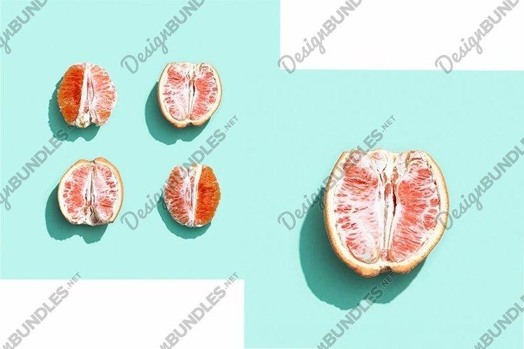 Bright grapefruit or red orange, minimal concept example image 1