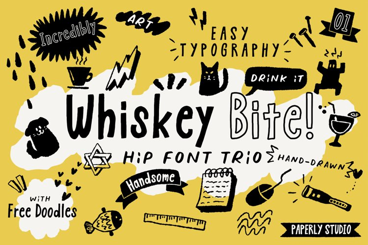 Whiskey Bite - Hip Font Trio example image 1