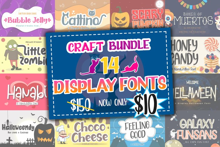 Best Display Font Bundle example image 1