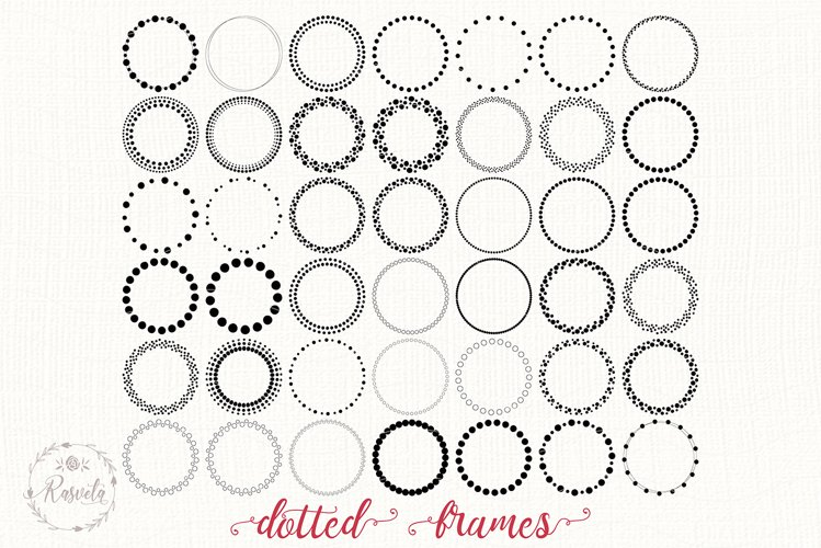 Dotted Circle Wreaths Frame
