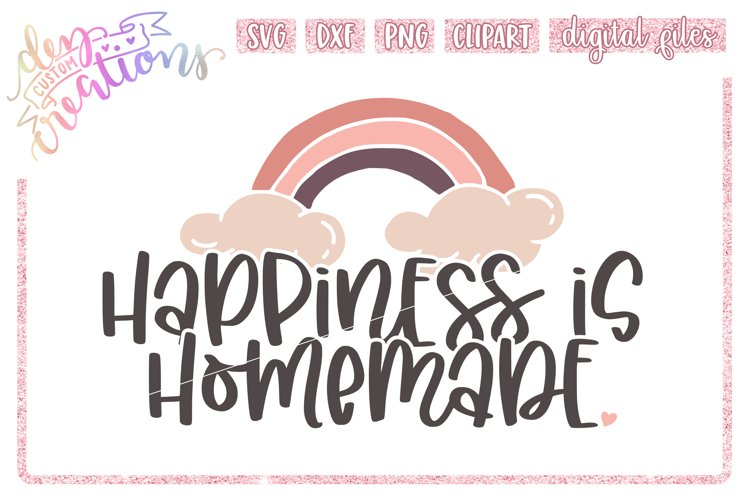 Happiness is Homemade - SVG DXF PNG