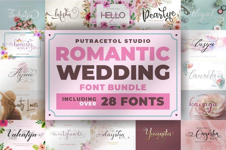 Romantic Wedding Font Bundles! example image 1