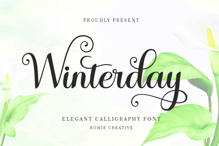 Winterday - Elegant Calligraphy font example image 1