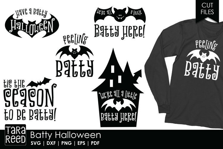 Batty Halloween - Halloween SVG and Cut Files for Crafters