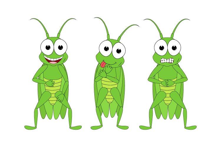 cute grasshopper animal cartoon example image 1