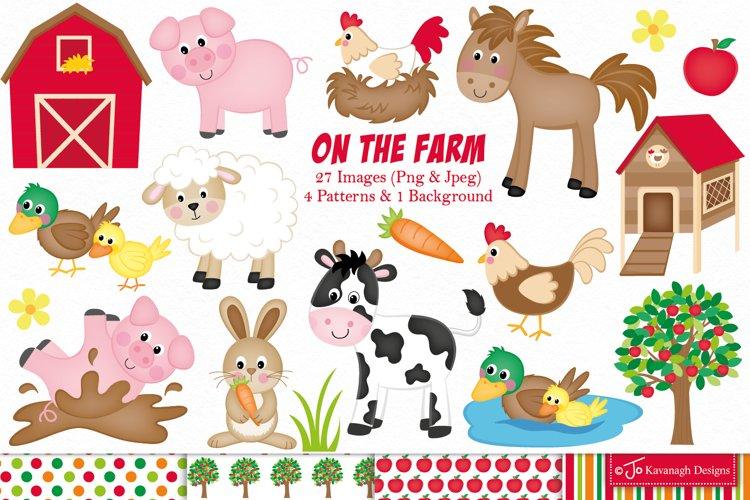Farm clipart, Farm animals graphics   illustrations -C11