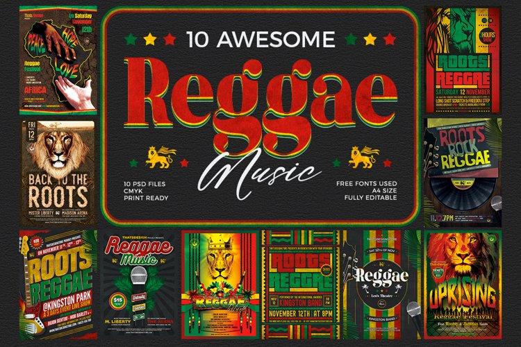 10 Reggae Music Flyer Bundle