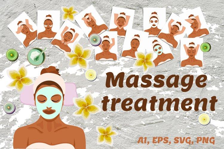 Facial massage treatments SVG example image 1