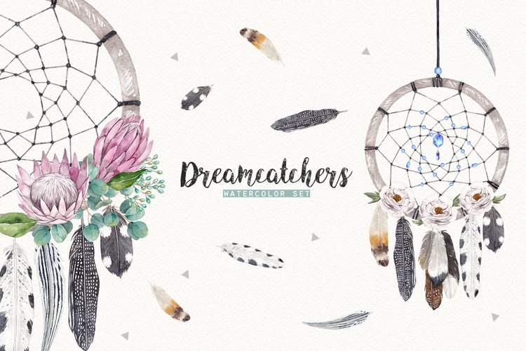 DREAMCATCHERS watercolor set example image 1