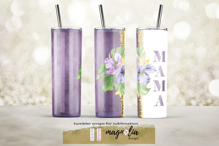 Mama sublimation design Tumbler wrap Skinny tumbler 20 oz example image 1